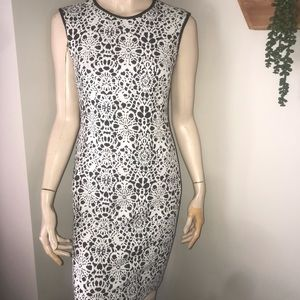 Carmen Black and White Stretchy Dress Size XS